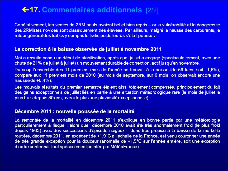 17. Commentaires additionnels [2/2]
